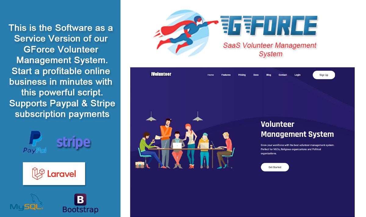 SaaS Volunter Management System - GForce - 1